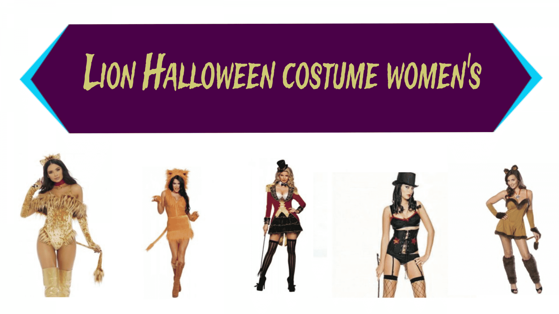 Lion Halloween costume women's