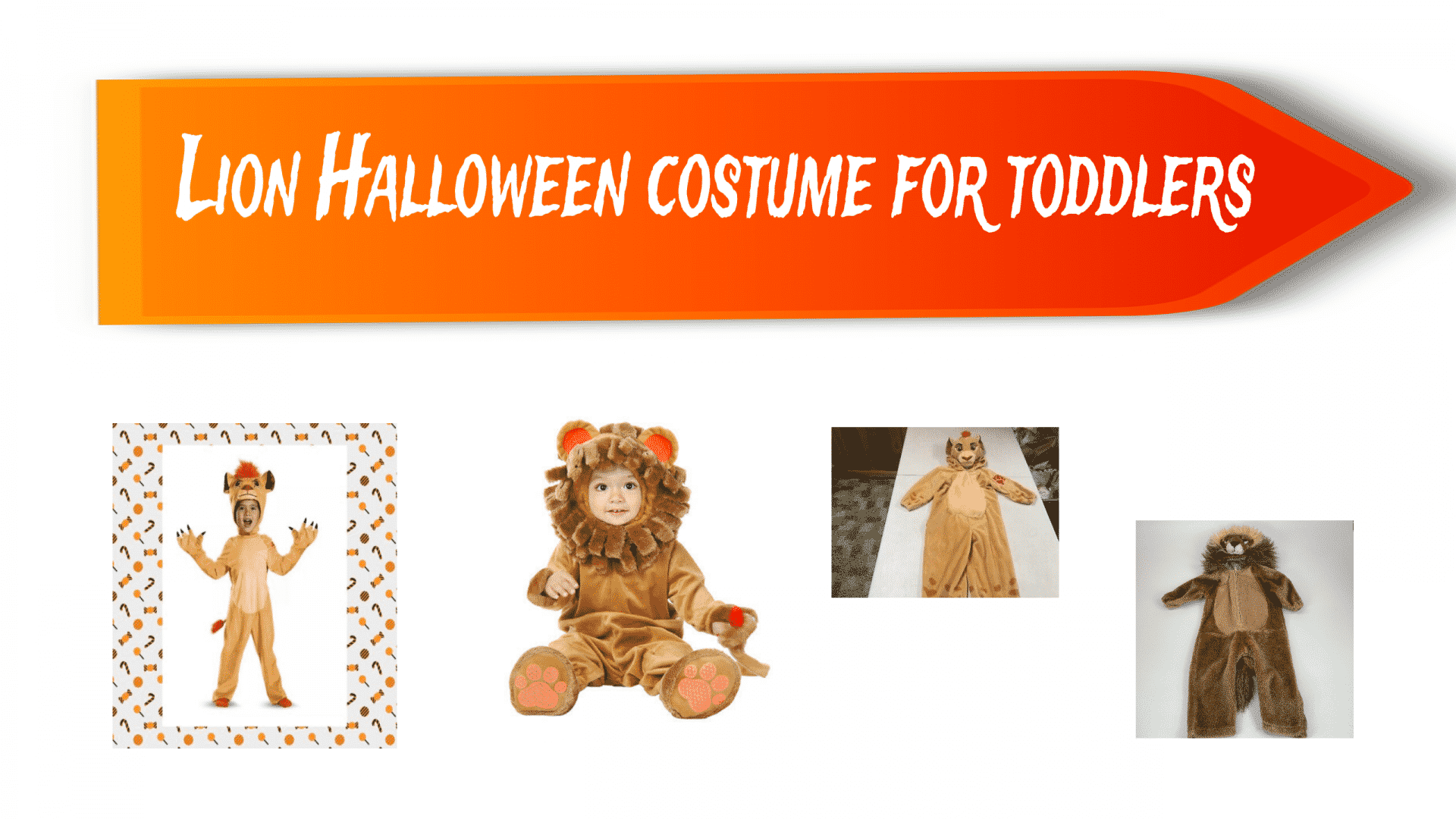 Lion Halloween costume for toddlers