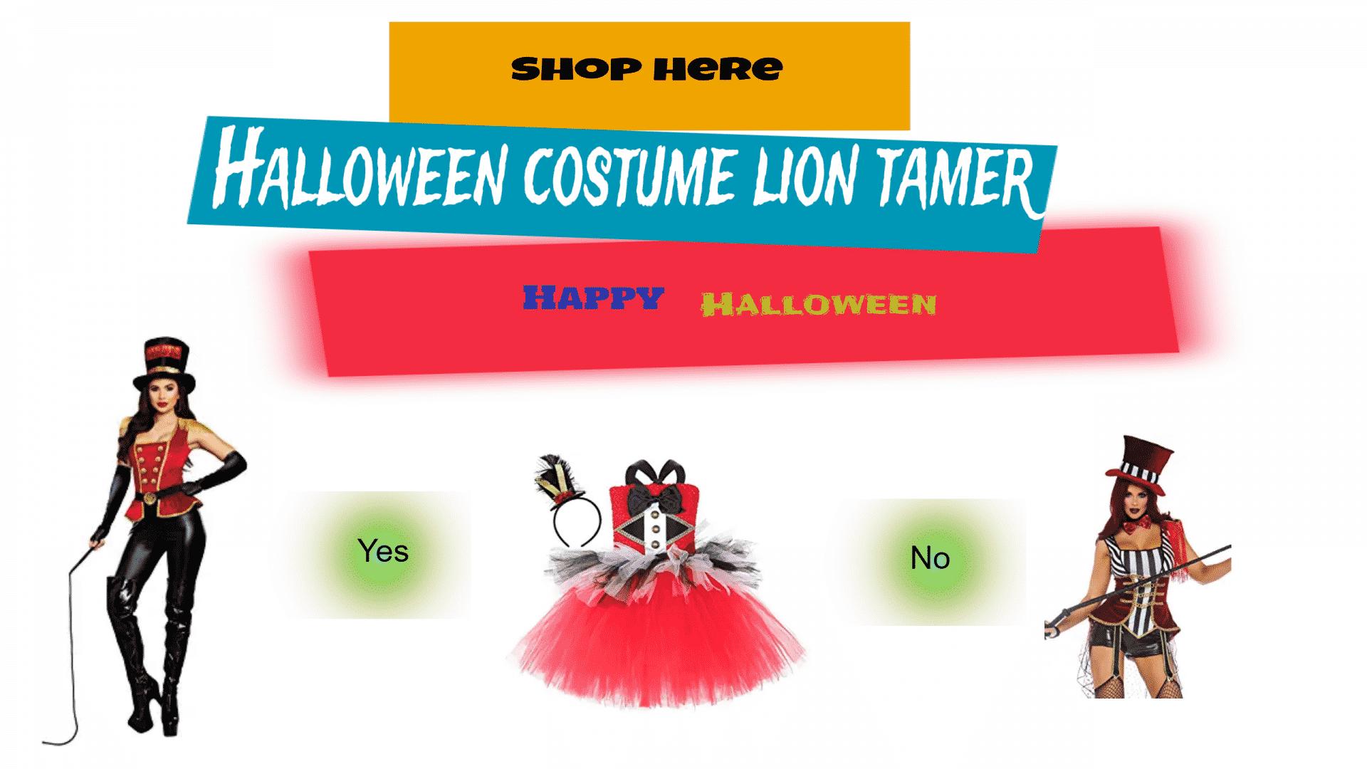 Halloween costume lion tamer